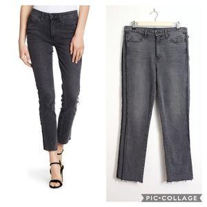 Paige Julia Raw Tux Jeans Straight Leg High Rise